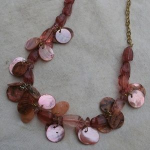 Vintage Dyed MOP Shell & Acrylic Bead Necklace